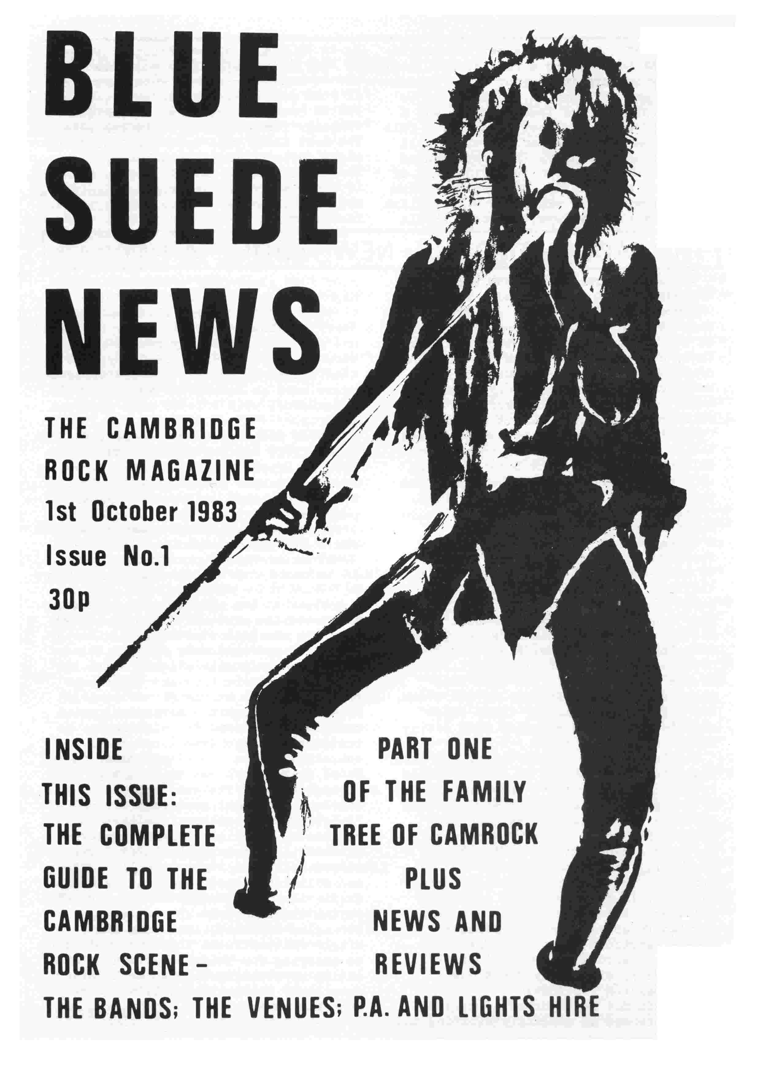 Cover of Blue Suede News Issue 1