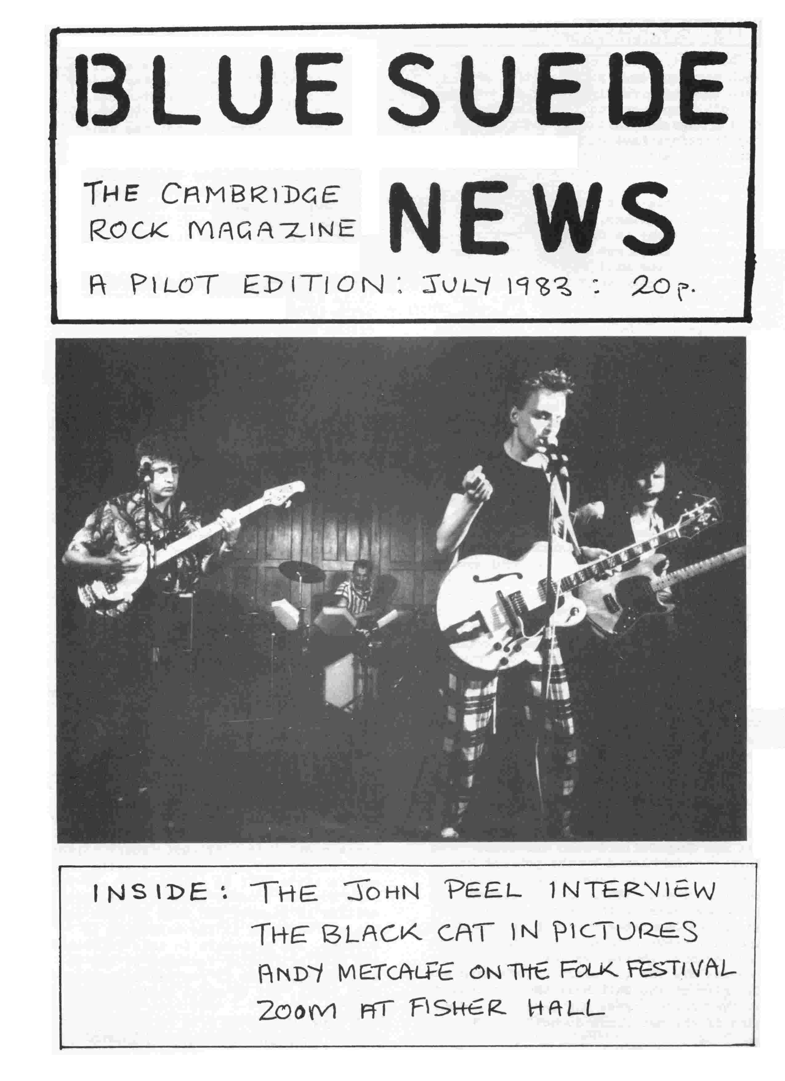 Cover of Blue Suede News pilot edition