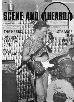 Cover of Scene and Heard Issue 2
